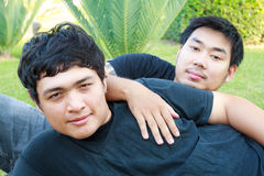Coppie asiatiche gay Fotografie Stock
