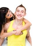 Coppie attraenti che sono allegre Fotografia Stock Libera da Diritti