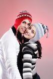 Coppie attraenti di inverno Fotografie Stock Libere da Diritti