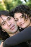 Coppie attraenti nell'amore Immagini Stock