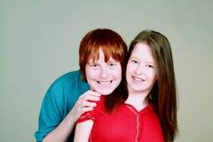 Coppie bizzarre della ragazza e del ragazzo Fotografia Stock Libera da Diritti