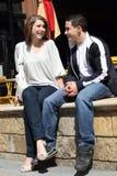 coppie buone avendo tempo degli adolescenti Immagini Stock Libere da Diritti