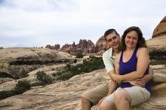 Coppie in Canyonlands Fotografia Stock Libera da Diritti