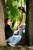Coppie casuali nell'amore Fotografia Stock