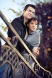 Coppie che amano nella sosta Fotografie Stock Libere da Diritti