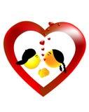 Coppie che baciano nel cuore di amore Immagine Stock Libera da Diritti