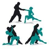 Coppie che ballano tango dell'Argentina Immagini Stock Libere da Diritti