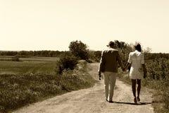 Coppie che camminano via Fotografia Stock