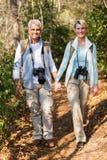 Coppie che fanno un'escursione all'aperto Immagine Stock Libera da Diritti