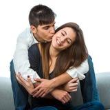 Coppie che mostrano affetto. Immagine Stock