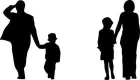 Coppie con due bambini illustrazione di stock