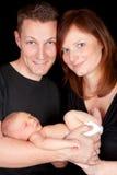 Coppie con il bambino appena nato Fotografia Stock Libera da Diritti
