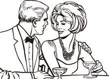 Coppie degli amanti royalty illustrazione gratis