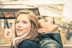 Coppie degli amanti all'inizio di una storia di amore Fotografia Stock Libera da Diritti