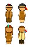 Coppie degli indiani di ringraziamento Fotografia Stock