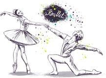 Coppie dei ballerini di balletto Fotografie Stock Libere da Diritti