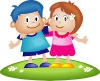 Coppie dei bambini illustrazione di stock