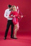 Coppie dei biglietti di S. Valentino immagini stock libere da diritti
