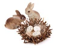 Coppie dei coniglietti di pasqua Immagini Stock Libere da Diritti