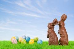 Caccia dell'uovo di Pasqua! Immagini Stock Libere da Diritti