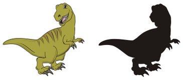 Coppie dei dinosauri Fotografie Stock