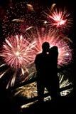 Coppie dei fuochi d'artificio Immagine Stock