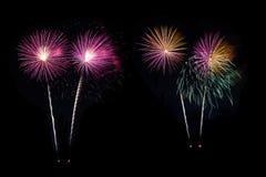 Coppie dei fuochi d'artificio Fotografia Stock
