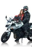 Coppie dei motociclisti Fotografie Stock Libere da Diritti