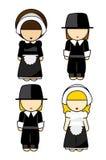 Coppie dei pellegrini di ringraziamento Fotografia Stock