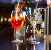Coppie dei vetri di cocktail Immagine Stock Libera da Diritti