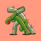 Coppie del cactus di dancing Illustrazione di Stock