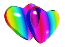 Coppie del cuore di amore Immagine Stock Libera da Diritti