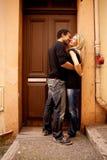 Coppie del flirt Fotografia Stock Libera da Diritti