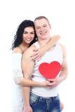Coppie del giovane biglietto di S. Valentino romantico Immagini Stock Libere da Diritti