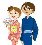 Coppie del kimono, cercare royalty illustrazione gratis