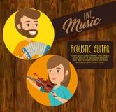 Coppie del musicista di concerto illustrazione vettoriale