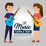 Coppie del musicista di concerto illustrazione di stock