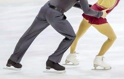 coppie del pattinaggio su ghiaccio Fotografia Stock