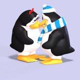 Coppie del pinguino nell'amore Fotografie Stock