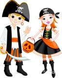 Coppie del pirata Fotografie Stock
