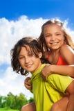 Coppie del ritratto dei bambini Immagine Stock Libera da Diritti