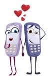 Coppie del telefono cellulare Illustrazione di Stock