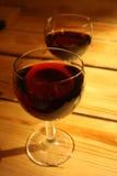 Coppie del vetro di vino Fotografia Stock