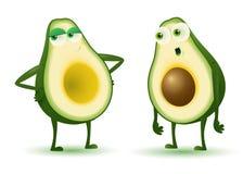 Coppie dell'avocado illustrazione vettoriale