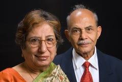 Coppie dell'indiano orientale dell'anziano Immagini Stock Libere da Diritti