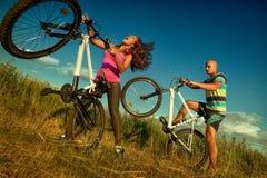 Coppie della bici Fotografia Stock Libera da Diritti