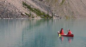 Coppie della canoa Fotografie Stock