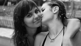 Coppie della donna Fotografie Stock Libere da Diritti