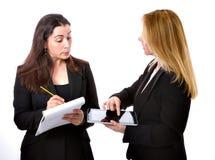 Coppie della donna di affari immagini stock libere da diritti