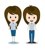 Coppie della donna e dell'uomo illustrazione vettoriale